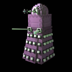 minecraft 1.9 Doctor who Dalek Shulker by HPFeathersen