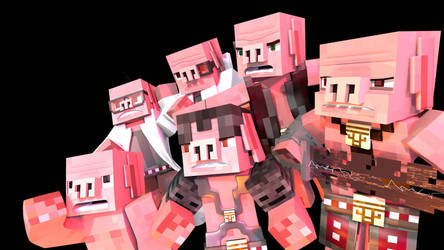 Minecraft Pigmen  by HPFeathersen