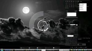 Desktop with rainmeter by Darthne0
