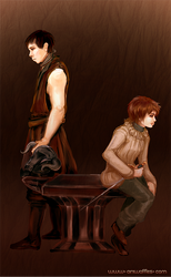 Gendry and Arya by Ainiwaffles