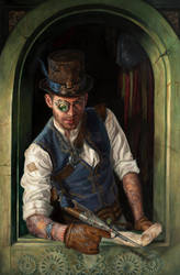 Portrait of Captain Rackham by LMessecar