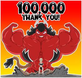 100,000 Page views! by Bioshin26