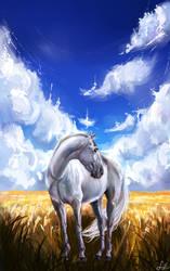 Horse noname by EvGolverk