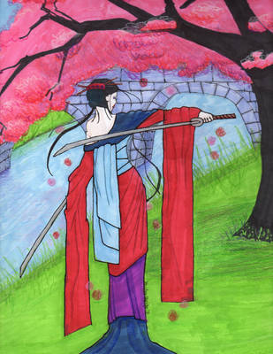 samurai geisha by golfpophorse