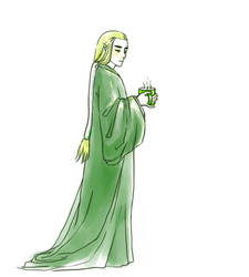 Thranduil in the morning by foolM00N