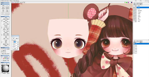 WIP Kabasawa Kina style head by Koinu-Yukina
