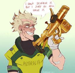 I Got A Gold Gun For Junkrat by Daxratchet