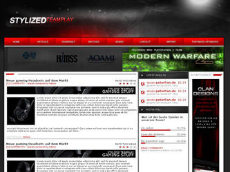 Grey Red Clandesign+Enterpage by slixdesign