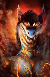 Demon speedpaint portrait by AnsticeWolf