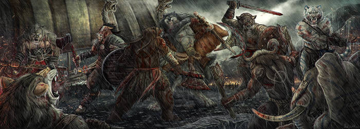 Vikings battle by AnsticeWolf
