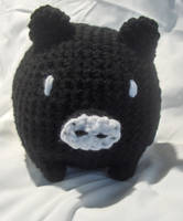 Black Crochet Monokuro Boo by PerilousBard