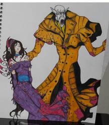 nosferatu with girl by JenieD