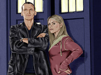 Rose and The Doctor by wiccawitch
