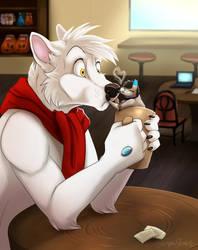 Coffee smooch by DarkpawStudios