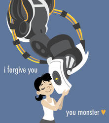 Glados and Chell by robosuplex