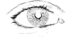 Eye Sketch by Blackdogti
