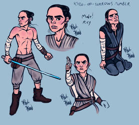 Male Rey, with Colours! by tsukhood
