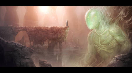 Djinn of the Ruined Temple by mysticaldonkey1