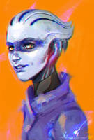 Peebee, or trying painting techniques by neosmashdx
