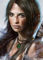 Alicia Vikander as Lara Croft by OmriKoresh