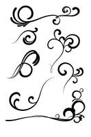 More Swirly Vectors by Astorix