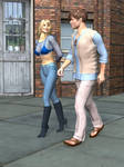 R-World Couple Walking by DonKevinMartin