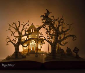 Halloween Book Art by MalenaValcarcel