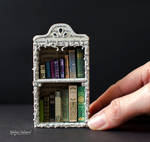 Miniature Bookcase with tiny books by MalenaValcarcel