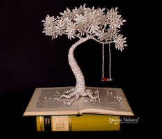 Tree with Swing - Book Sculpture by MalenaValcarcel