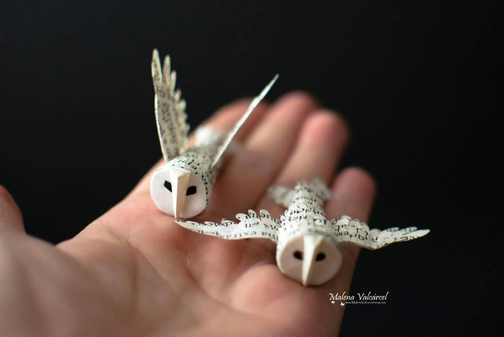 Tiny Paper Owls by MalenaValcarcel