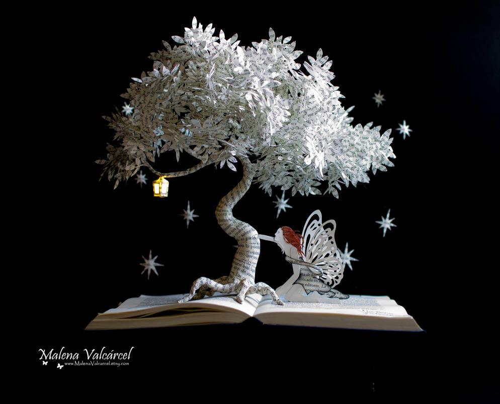 Dreamy Nights - Book Art by MalenaValcarcel