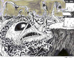 Sea Monster Blues by WesleyCraigGreen