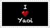 I Love Yaoi Stamp by HanyouInny
