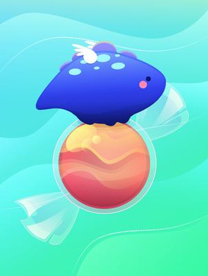 Kawaii : Dino Candy by Citronade-Arts