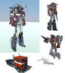 Optimus Prime. Sketchup+Vray by raskayu77