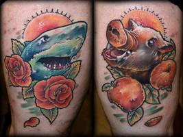 Shark and Boar by Tibor Galiger @ Dublin Ink by DublinInk