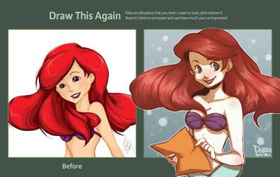 Drawing Ariel Again by Do0dlebugdebz