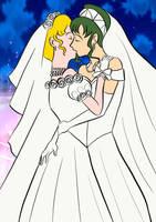 Sailor Moon x Sailor Pluto wedding by Arendellecitizen