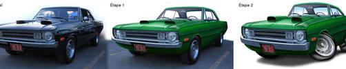 Dodge-Dart-1972-evolution by Dom-Graphcom