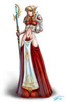 Elven Healer -colored- by EvilFlesh