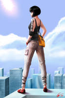 On the Edge -Mirror's Edge- by EvilFlesh