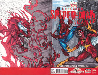 Spider-Man Team-Up Sketch Cover by dixey
