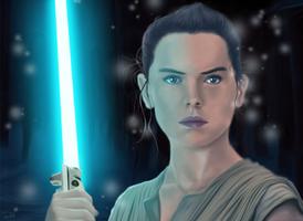 Rey Awakens - Star Wars: The Force Awakens by rma7394
