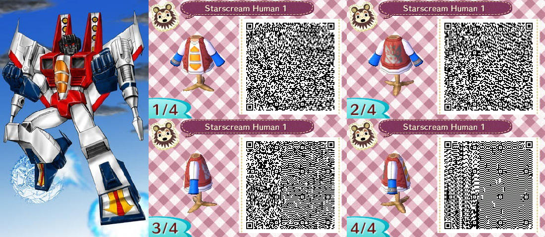 Starscream Human 1 Acnl Qr Codes By Katan100 On Deviantart