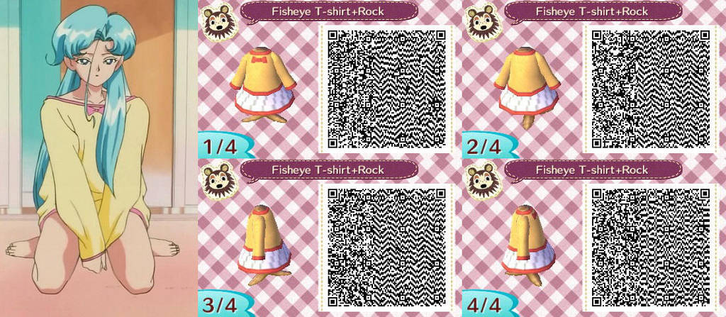 Fisheye T Shirt Rock Acnl Qr Codes By Katan100 On Deviantart
