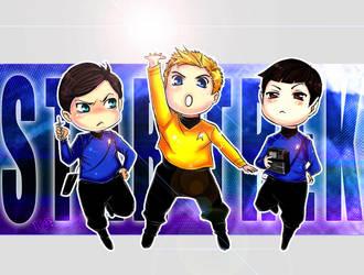 ST- Kirk-Spock-McCoy by Mkb-Diapason