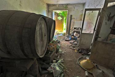 Abandoned farm - Barrels and bottles by ExaVolt