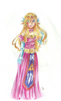 Princess Zelda 3 by Coco-of-the-Forest