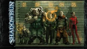 Shadowrun Suspects Wallpaper by KlausScherwinski