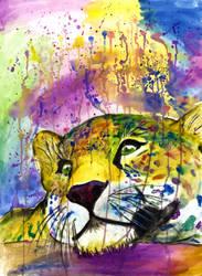 Daydreaming Leopard by JulieRaven